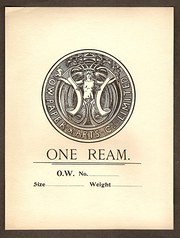 Art Nouveau Paper Ream Label