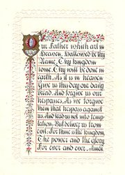 Caligraphic Lords Prayer of c1
