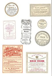 Collection of 8 Victorian Chem