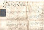 George III Indenture  1786