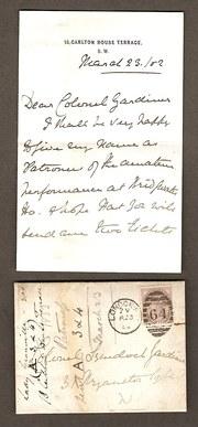 Hand Written Letter and Envelo