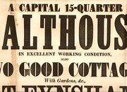 Malthouse Auction Poster  1864