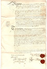 Obligation Bond Dated 1734