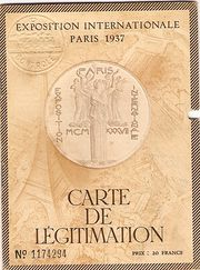 Paris Exhibition 1937 Pass Boo