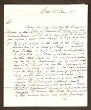 Solicitors Hand Written Letter