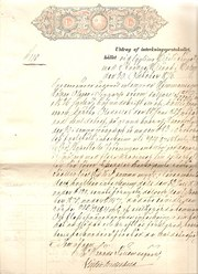 Swedish Duty Tax stamp  1876