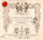 Ticket to a Ball at The Guildh