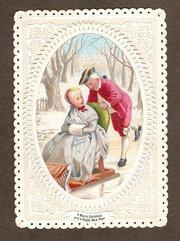 Victorian Christmas Card circa
