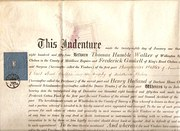 Victorianm vellum Indenture of