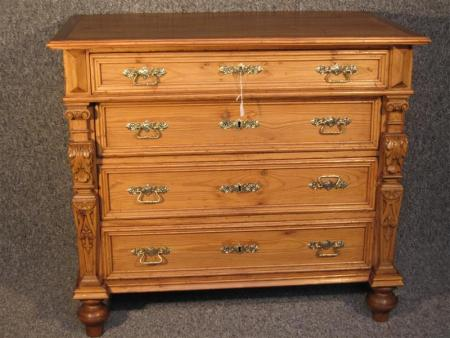 German Pine Chest of Drawers
